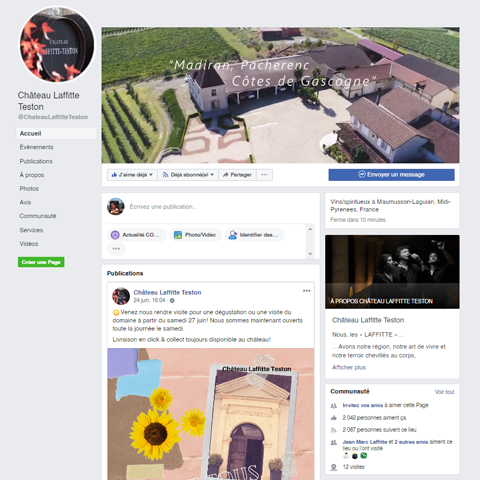 Facebook Château Laffitte Teston