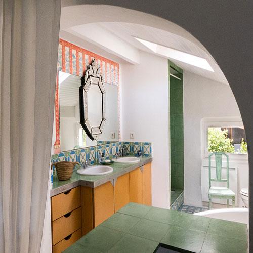 La salle de bain coquillages